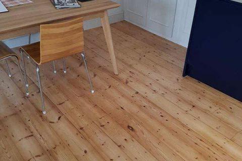 Floorboards sanded and varnished