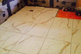Wet room renovation