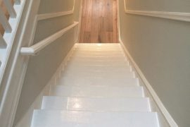 Plastering, painting and wood flooring