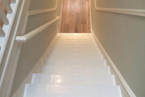 Plastering, painting and wood flooring