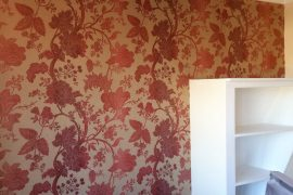Wallpapered walls